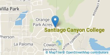 Location of Santiago Canyon College