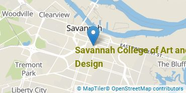 Location of Savannah College of Art and Design