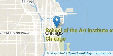 Location of School of the Art Institute of Chicago