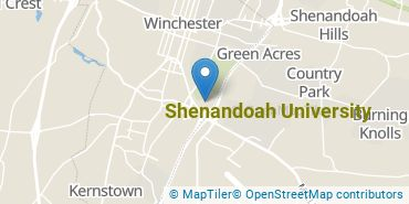 Location of Shenandoah University