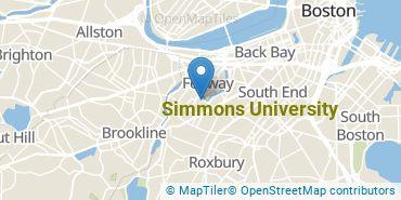 Location of Simmons University