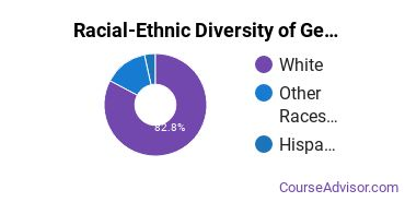 Racial-Ethnic Diversity of General Sales & Marketing Majors at Southeast Technical College
