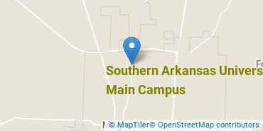 Location of Southern Arkansas University Main Campus