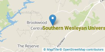 Location of Southern Wesleyan University