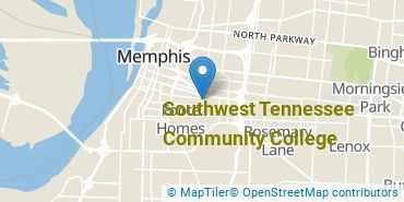 Location of Southwest Tennessee Community College
