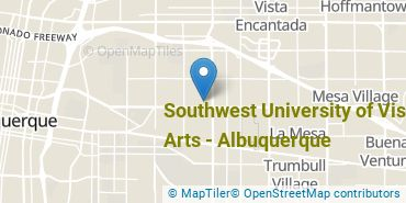 Location of Southwest University of Visual Arts - Albuquerque