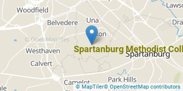 Location of Spartanburg Methodist College