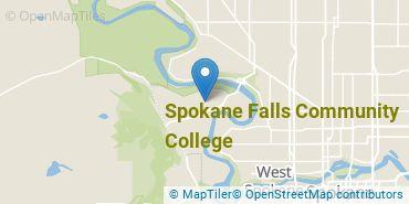 Location of Spokane Falls Community College