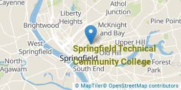 Location of Springfield Technical Community College