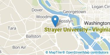Location of Strayer University - Virginia