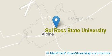 Location of Sul Ross State University