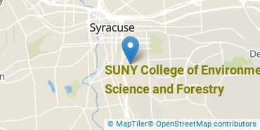 Location of SUNY College of Environmental Science and Forestry