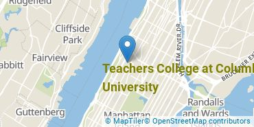 Location of Teachers College at Columbia University