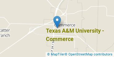 Location of Texas A&M University - Commerce