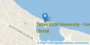 Location of Texas A&M University - Corpus Christi
