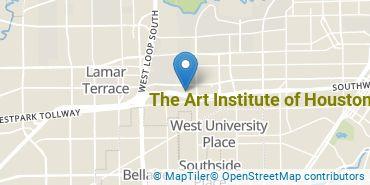 Location of The Art Institute of Houston
