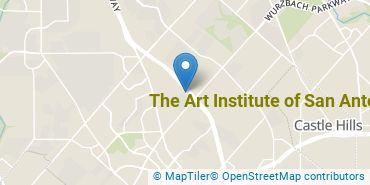 Location of The Art Institute of San Antonio