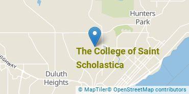Location of The College of Saint Scholastica