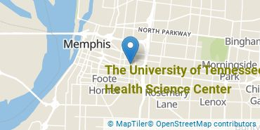 Location of The University of Tennessee-Health Science Center
