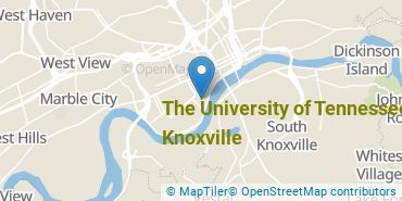 Location of The University of Tennessee - Knoxville