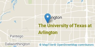 Location of The University of Texas at Arlington