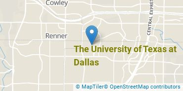 Location of The University of Texas at Dallas