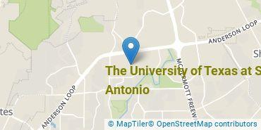 Location of The University of Texas at San Antonio