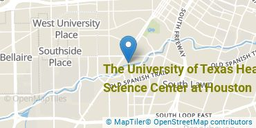 Location of The University of Texas Health Science Center at Houston