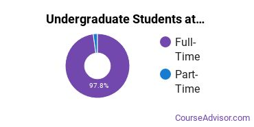 Full-Time vs. Part-Time Undergraduate Students at  UArts