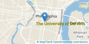 Location of The University of the Arts