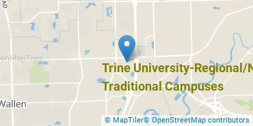 Location of Trine University-Regional/Non-Traditional Campuses