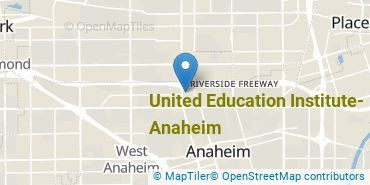 Location of United Education Institute-Anaheim