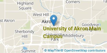 Location of University of Akron Main Campus