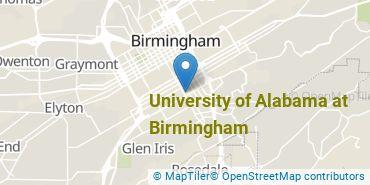 Location of University of Alabama at Birmingham