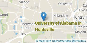 Location of University of Alabama in Huntsville
