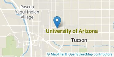 Location of University of Arizona