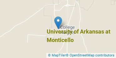 Location of University of Arkansas at Monticello