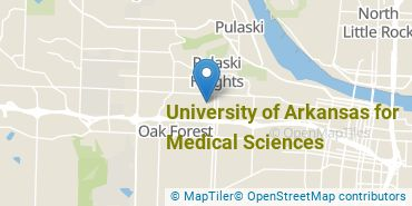 Location of University of Arkansas for Medical Sciences