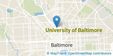 Location of University of Baltimore