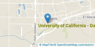 Location of University of California - Davis