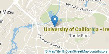 Location of University of California - Irvine
