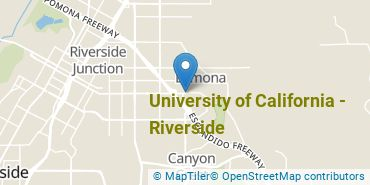 Location of University of California - Riverside