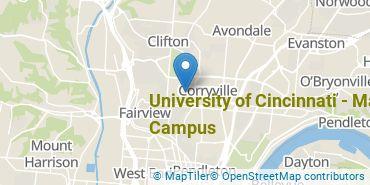 Location of University of Cincinnati - Main Campus