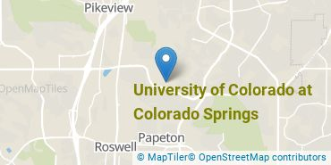 Location of University of Colorado at Colorado Springs