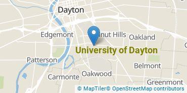 Location of University of Dayton