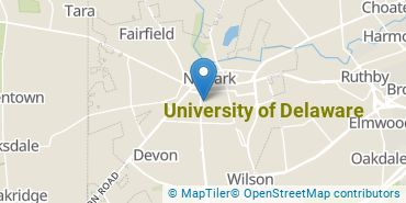 Location of University of Delaware