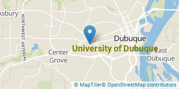 Location of University of Dubuque