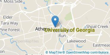 Location of University of Georgia
