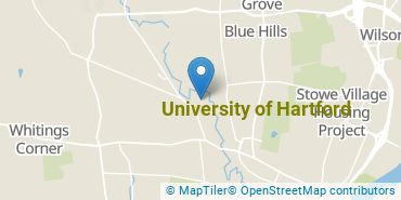 Location of University of Hartford