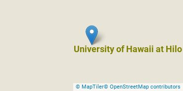 Location of University of Hawaii at Hilo